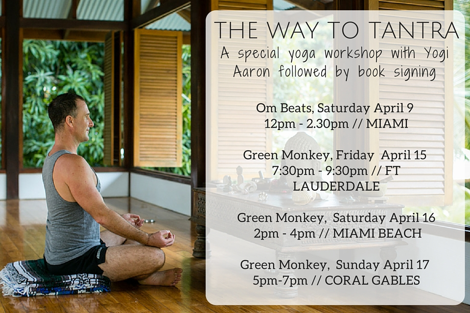 The Way to Tantra Workshop Schedule Yogi Aaron Meditating