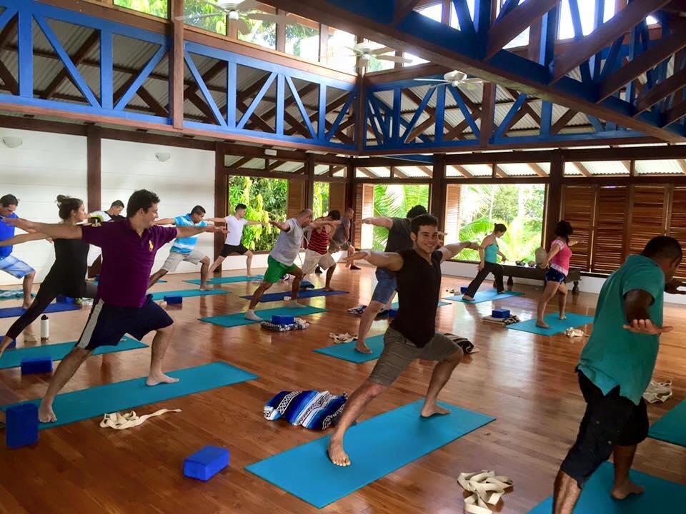 Employees at Yoga Retreat