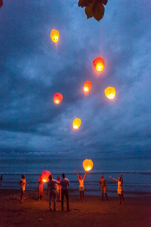 Lanterns at Yoga Retreat